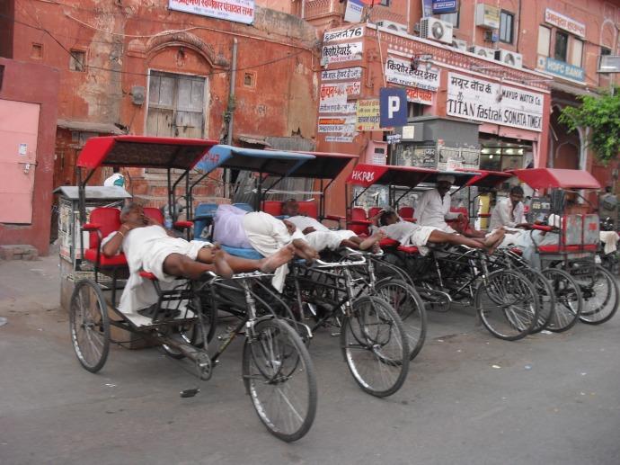 A nap in Jaipur