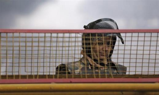 Policewomen during the Delhi demonstrations