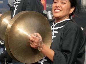 Cymbal playing!